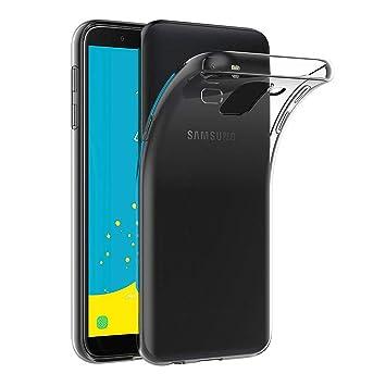AICEK Funda Samsung Galaxy J6 2018, Transparente Silicona Fundas para Samsung Galaxy J6 Carcasa Silicona Funda Case (5,6 Pulgadas SM-J600F)