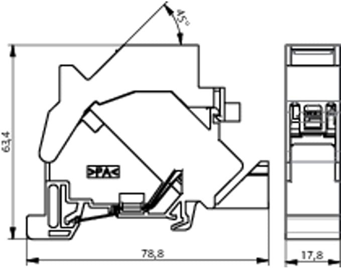Telegärtner 82772 Ts45 Amj S Modul Für Hutschiene Baumarkt