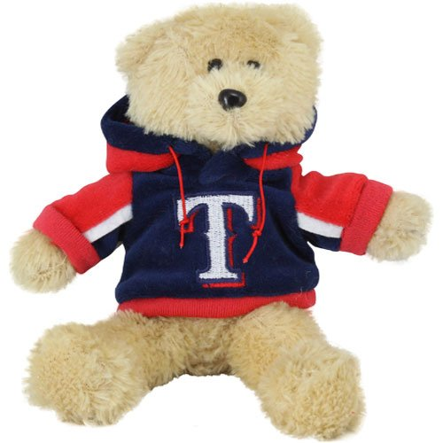 (MLB Texas Rangers 8'' Plush Hoodie Bear -)