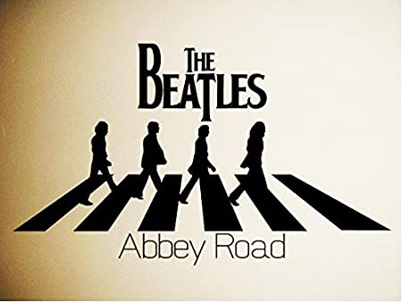 Hommay PVC Wall Stickers Beatles Home Decoration Removable Sidewalk Background Wallpaper Mural Art Decals 965