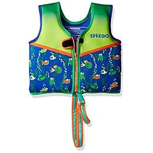 Speedo Kids UPF 50+ Begin to Swim Printed Neoprene Swim Vest, Sapphire Blue, Large