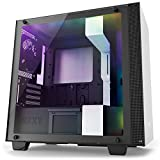 NZXT H400i - MicroATX PC Gaming Case - RGB Lighting and Fan Control - CAM-Powered Smart Device - Tempered Glass Panel - Enhanced Cable Management System – Water-Cooling Ready - White/Black