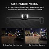 Wireless Backup Camera Mirror with IP 68 Waterproof Back Up Cam, Super Night Vision Car Reverse Camera License Plate Rear View Camera kit by AUTO VOX