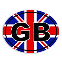 GB - Great Britain - Union Jack Flag Euro Badge Car Sticker / Window Decal Bumper