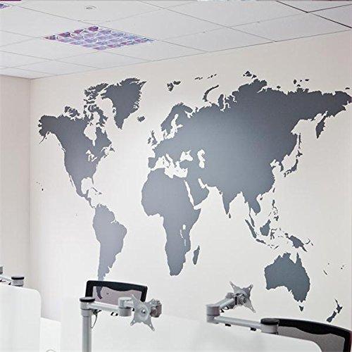 Caliente 1 PCS200x90cm mapamundi grande Atlas Mundial vinilos ...
