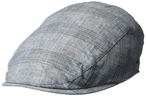 Cotton Lined Ivy Cap - Bailey of Hollywood Men's Chiron Plaid Ivy Cap, Light Blue Plaid, M