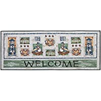 Nantucket Home Tapestry Runner Home Decor Accent Area Rug, 24-Inch x 60-Inch (Welcome Lighthouse)