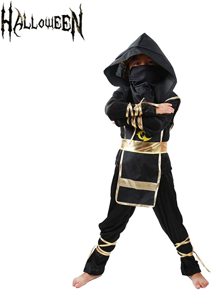 Echo Paths Ninja Costume for Boys Kids Halloween Party Dress up Cosplay Mask
