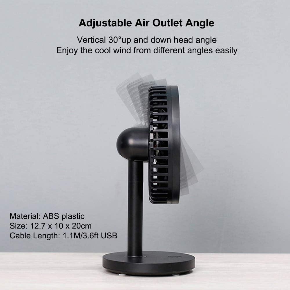 Black 3 Speeds Small Mini USB Table Desk Desktop Fan DC 5V Plastic Personal Office Cooling Fan Low Noise Adjustable Angle discoGoods USB Desk Fan