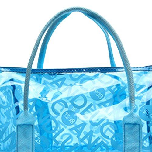 Moda Panegy con Mano Bolsa Asas para Azul Impermeable Playa de de Natación Fitness Deportes Bolso Azul Transparente gTq1rgdx