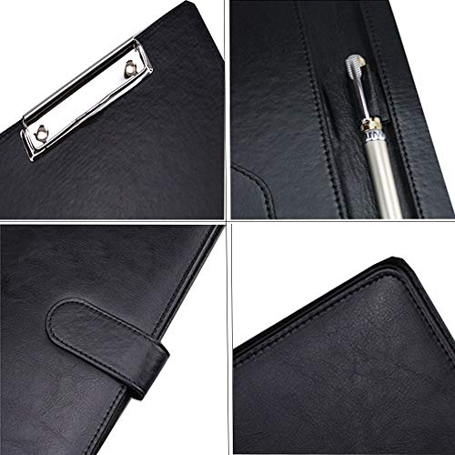 Portfolio Folder, POSTA Professional A4 Padfolio, Interview Resume Document Organizer, Business Portfolio, Document Storage, Writing Pad, Black Photo #7