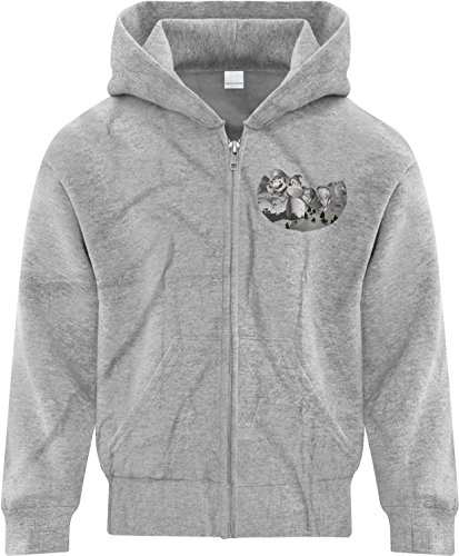 Price comparison product image BSW Youth Girls Mount Gamemore Gamer Zip Hoodie LRG Sport Grey