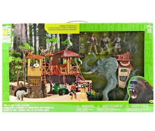 Wildlife Tree House Animal Planet Playset Jungle Adventure Play Set Elephants by Animal Planet