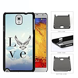 Love United States Air Force Hard Plastic Snap On Cell Phone Case Samsung Galaxy Note 3 III N9000 N9002 N9005
