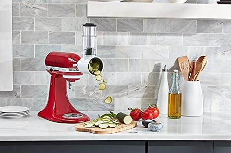 KitchenAid Artisan 5KSM175 Starter - Robot de Cocina (Incluye Cortador de Verduras, picadora de Carne y Accesorios estándar), Color Rojo: Amazon.es
