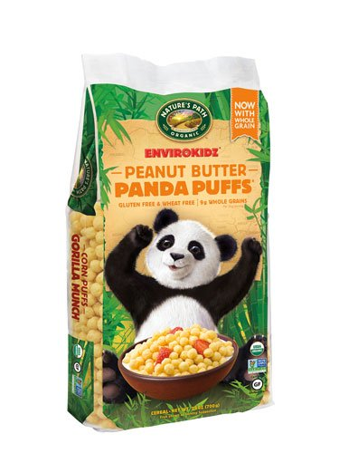 Nature's Path EnviroKidz? Organic Panda Puffs? Cereal Eco-Pac Peanut Butter -- 24.76 oz - 2 pc