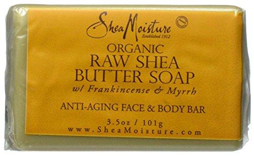 Shea Butter Bath Soap (Shea Moisture Raw Butter Facial Bar Soap, 3.5 Ounce)