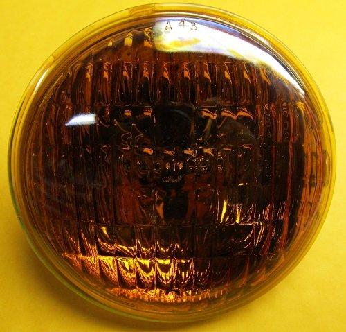 50w Par36 Screw (Wagner Lighting #4455A (Amber) Bulb 28 V, 50 W, 2 Screw Terminals Base, PAR36 shape)
