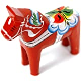 "Traditional Wooden Swedish Dala Horse - Red 2"" (5cm)"