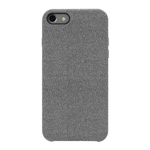 Fabric Back Cover - iPhone 8 Plus Case, iPhone 7 Plus Hard Case, Soft Fabric Back Cover Protective Phone Case Skin Protector Supports Wireless Charging For Apple iPhone 8 Plus/iPhone 7 Plus 5.5 inches - Grey