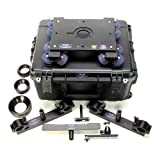 DanaDolly Universal Rental Kit, Includes 2x Universal Track Ends, Center Support, 75mm, 100mm, 150 Bowl Adapter, 3'' Washer, T-Tool, Monitor Mount & Flight Case