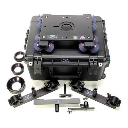 DanaDolly Universal Rental Kit, Includes 2x Universal Track Ends, Center Support, 75mm, 100mm, 150 Bowl Adapter, 3'' Washer, T-Tool, Monitor Mount & Flight Case by Dana Dolly