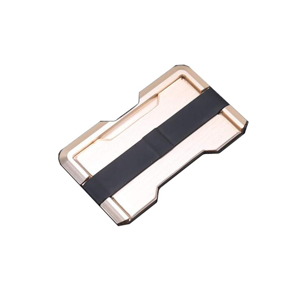 RFID Blocking Mutil-color Mens Tactical Metal /& Leather Wallet Up to 8 Card