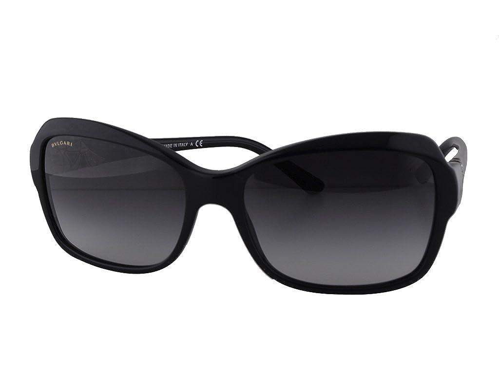 Amazon.com: anteojos de sol Bvlgari BV 8153-b Black W/Dark ...