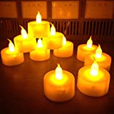 24pcs Flameless Fake candle LED Candle Light Safety Home Bar Decoration for Christmas New Year
