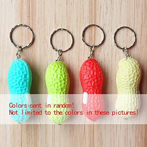(Keychain- Arrival Fake Peanut Key Chain Simulation Food Lights Keychain Keyring Wedding Opened Promotional - Keychain Artificial Keychain 1 Food Keychain Lamp Food Ice Fake Decor Cream)