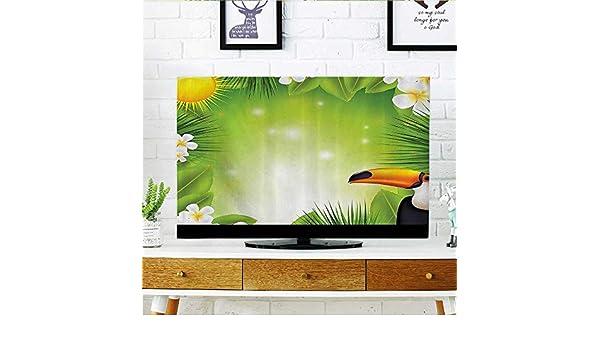 L-QN Proteja su TV Gigante Panda ar Sentado en Zoo Traditial Chino Pintura Estilo mocromático Pict Proteger su TV W19 x H30 Pulgadas/TV 32 Pulgadas: Amazon.es: Hogar
