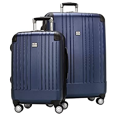 Ricardo Beverly Hills Greenfield 2-Piece 4 Wheeled Luggage Set, Monterey Blue, One Size