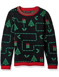 Boys' Pixel Presents Xmas Sweater,