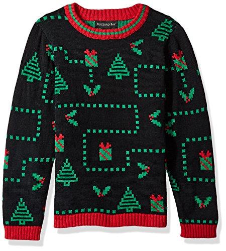 Big Boys' Pixel Presents Xmas Sweater