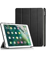 iPad 9.7 2017 Case (Nuevo modelo 2017), EasyAcc Ultra Slim iPad 9.7 2017 Funda Smart Case con Auto Sleep Wake-up / Funcion de soporte para el nuevo iPad 9.7 2017 (Cuero Premium de la PU, Diseño de la cubierta plegada, Negro)