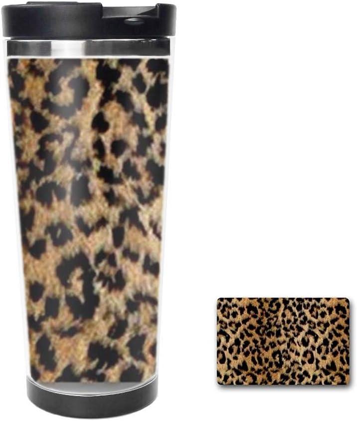 Amazon Com Leopard Print Drinking Cup Coffee Mug Travel Mug Thermos Cup Creative Cup 18oz Kitchen Dining