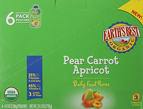 Earths Best Organic Carrot Apricot