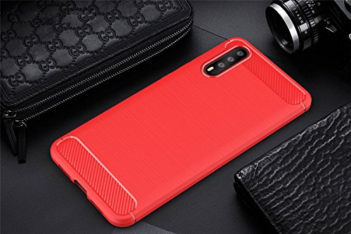 rayures P20 Cover choc Anti Hybride Adamark Souple Huawei Pro Carbone Housse Noir Bumper Protection Etui P20 Coque Pro Silicone Anti Case Pour huawei Rouge Fibre 6AtPU