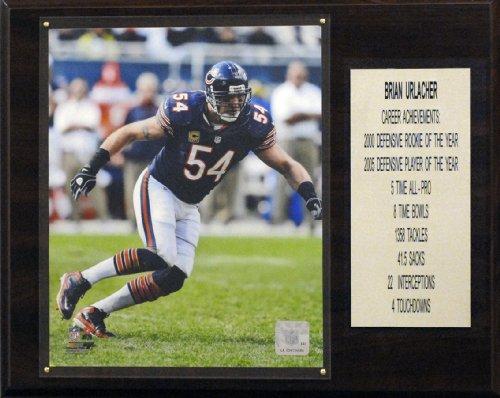 Brian Urlacher Photograph - NFL Chicago Bears Brian Urlacher Career Stats Plaque, 12x15-Inch