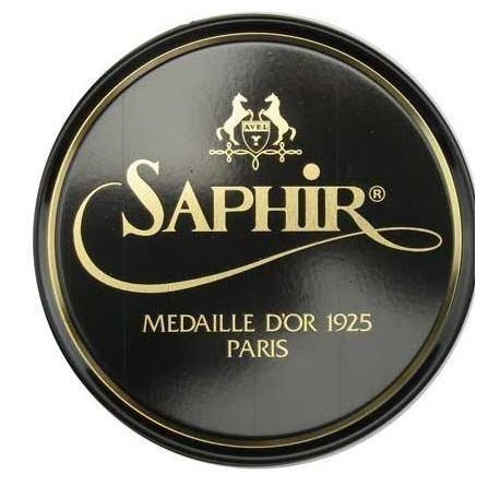 Saphir Medaille D'or 1925 Pate De Luxe Black 50ml Wax Shoe - Black Luxe