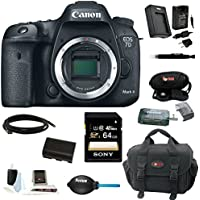 Canon EOS 7D Mark II Digital SLR Camera (Body Only) with 64GB Deluxe Accessory Kit Basic Facts Review Image