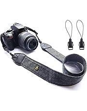 WANBY Camera Soft Shoulder Neck Strap with Quick Release Buckles for DSLR SLR (Black)