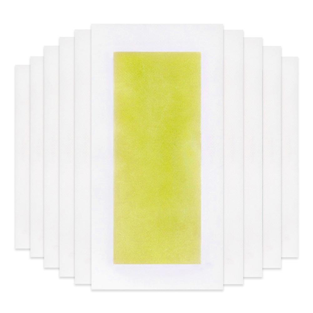 Flower205 20 tabletas para-Lan Na de doble cara eliminación de vello de papel pierna brazo brazo de depilación rápida 5 × 10 cm