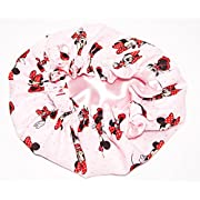 HANDCRAFTED LIGHT PINK Reversible Kids and toddlers SATIN BONNETs are lined with DISNEY MINNIE MOUSE Fabric (MADE IN USA) (KIDS MINNIE MOUSE, LIGHT PINK)