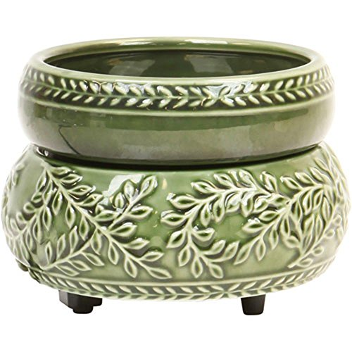 Green Ivy 2 in 1 Ceramic Candle Warmer