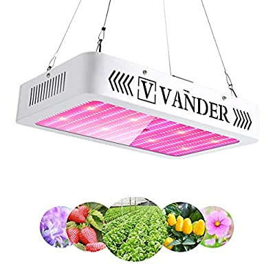 LED Grow Light - Vander Double Spectrum Full Spectrum Led Growing Lamp for Hydroponic Indoor Plants Veg and Flower