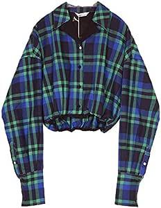 XXIN UK Textura Sobre una Camisa Long-Sleeved Corto Femenino ...