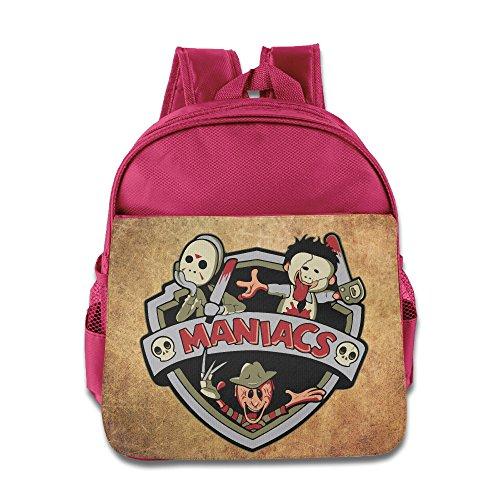(The Maniacs Halloween Kids Backpack School Bag For Boys/girls Pink)