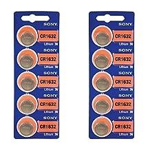 Sony CR1632 3 Volt Lithium Batteries 10 Batteries