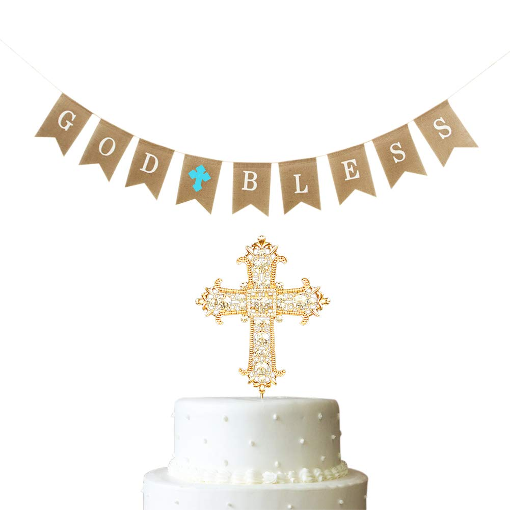 Baptism Christening Baby Shower Party Banner Canvas Fabric Decoration Supplies